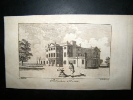 UK 1761 Antique Print, Belvedere House, London